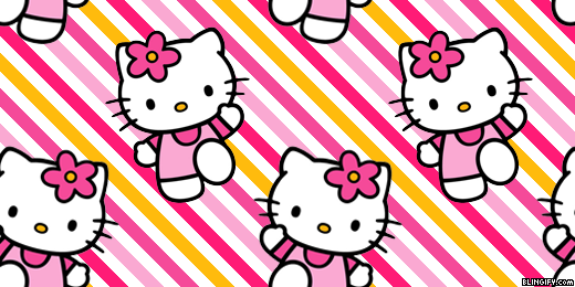 Hello Kitty Pink google plus cover