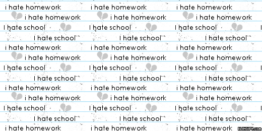 I Hate Homework I Hate School google plus cover