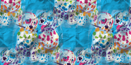 Spotty Dotty Paws Lisa Frank  google plus cover