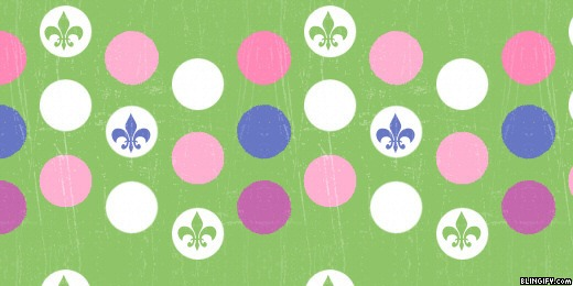 Fluer Di Lis Dots google plus cover