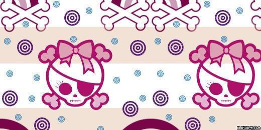 Pretty Skull google plus cover