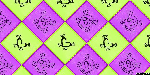 Skull Squares google plus cover