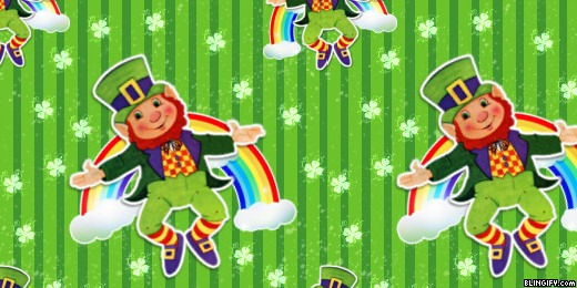 Leprechaun Rainbow google plus cover