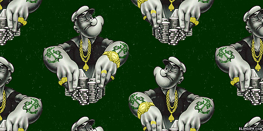 Blingify Popeye google plus cover