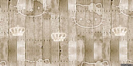 Wood Hello Kitty google plus cover