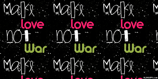 Make Love Not War google plus cover